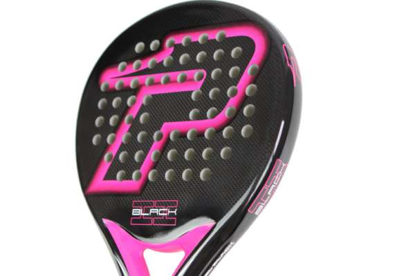 Pala de padel BLACK BRILLO FUCSIA | PWP: Power Padel