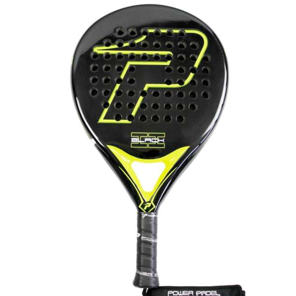 - pala power padel black brillo II completa