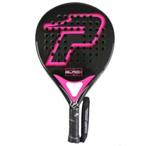 - pala power padel black brillo II fucsia completa