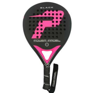 - pala power padel black mate fucsia completa