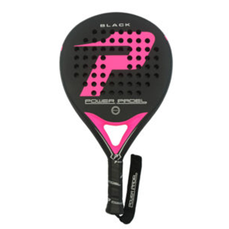 Pala de padel BLACK MATE FUCSIA | PWP: Power Padel